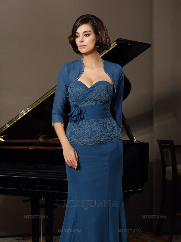 1/2 Sleeves Chiffon Special Occasion Wrap