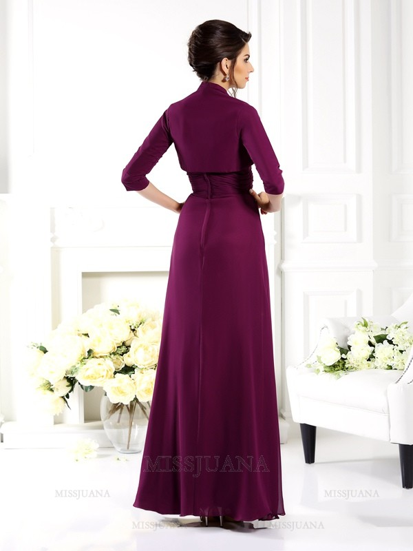 3/4 Sleeves Chiffon Special Occasion Wrap