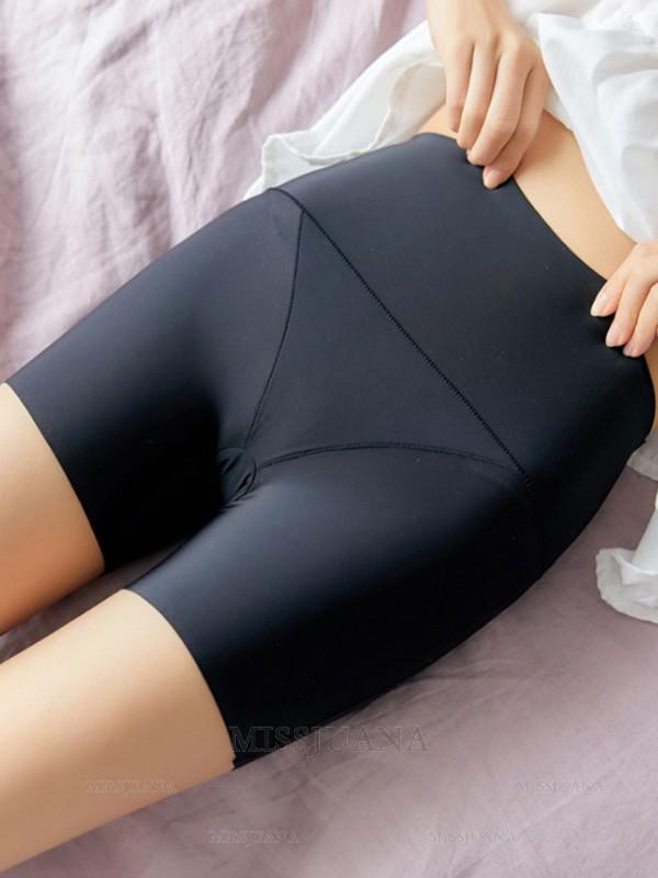 Soft Women's Nylon High Waist Elastic Safety Pants/Safety Shorts