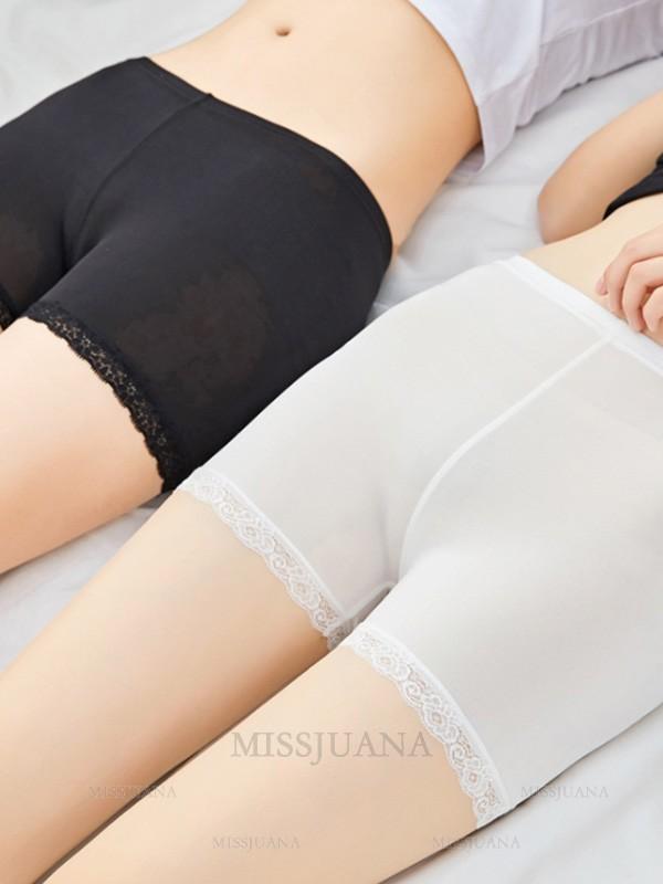 Fashion Women's Polyester Fiber Lace Elastic Safety Pants/Safety Shorts