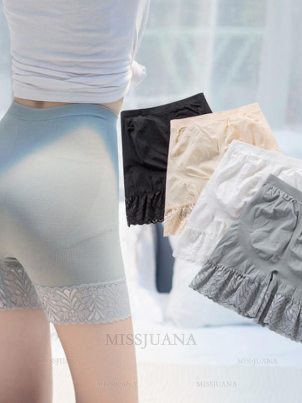 Fashion Women's Nylon Lace Elastic Safety Pants/Safety Shorts