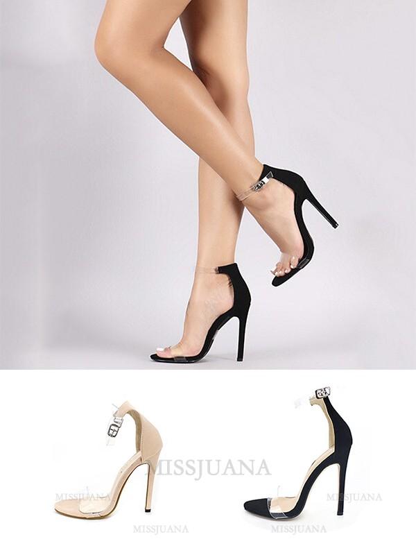 Women's Stiletto Heel Matte With Buckle Peep Toe Sandals