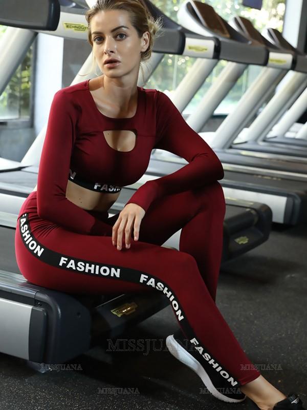 Gorgeous Cotton Yoga Sports Tee&Leggings