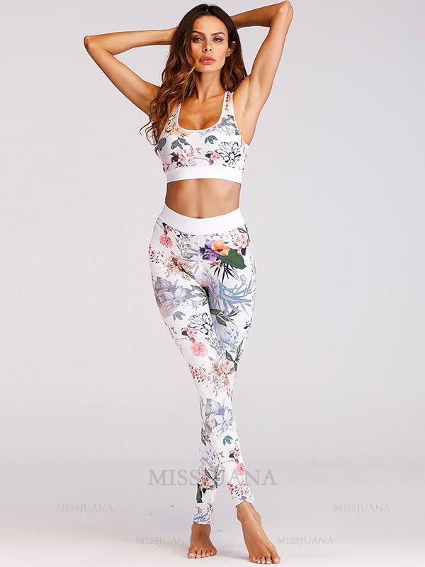 Attractive Cotton Print Yoga Sports Bra&Leggings