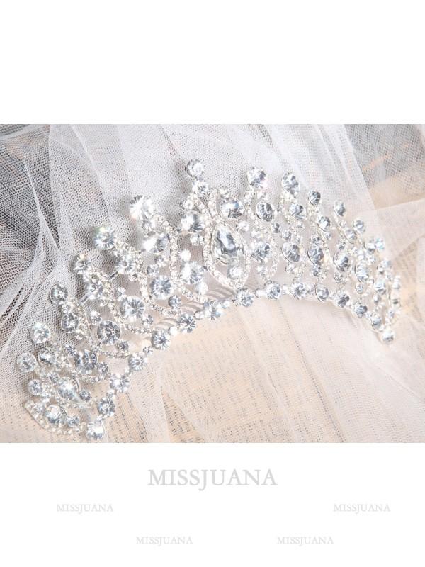 Elegant Alloy Clear Crystals Wedding Headpieces