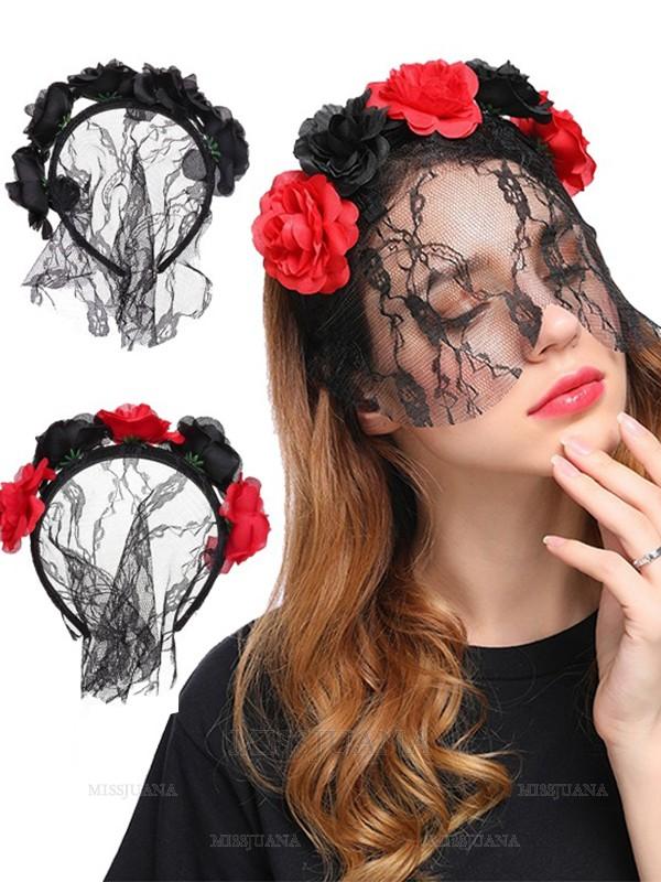 Halloween Lovely Cloth Flower Headpieces