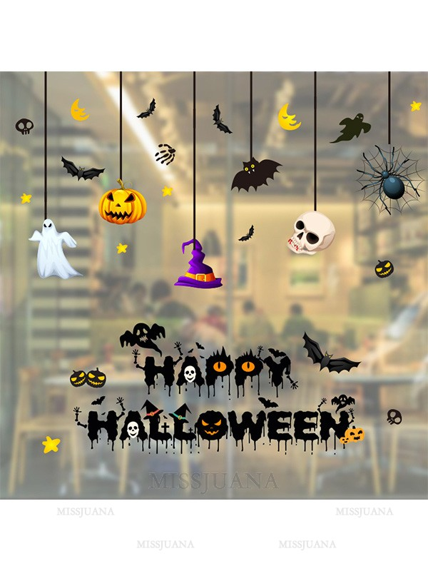 Halloween Awesome Paper Static Stickers
