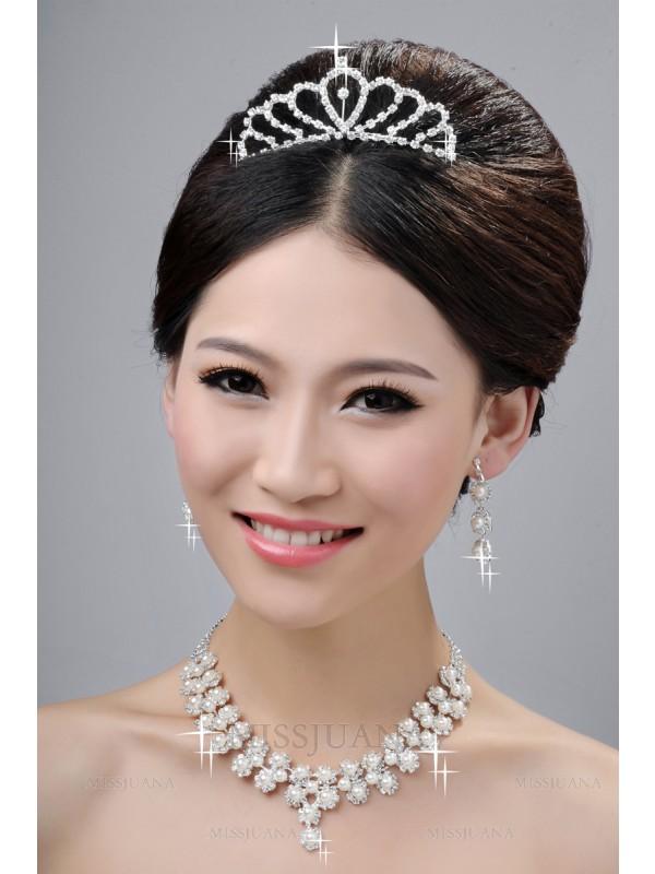 Gorgeous Wedding Headpieces Necklaces Earrings Set