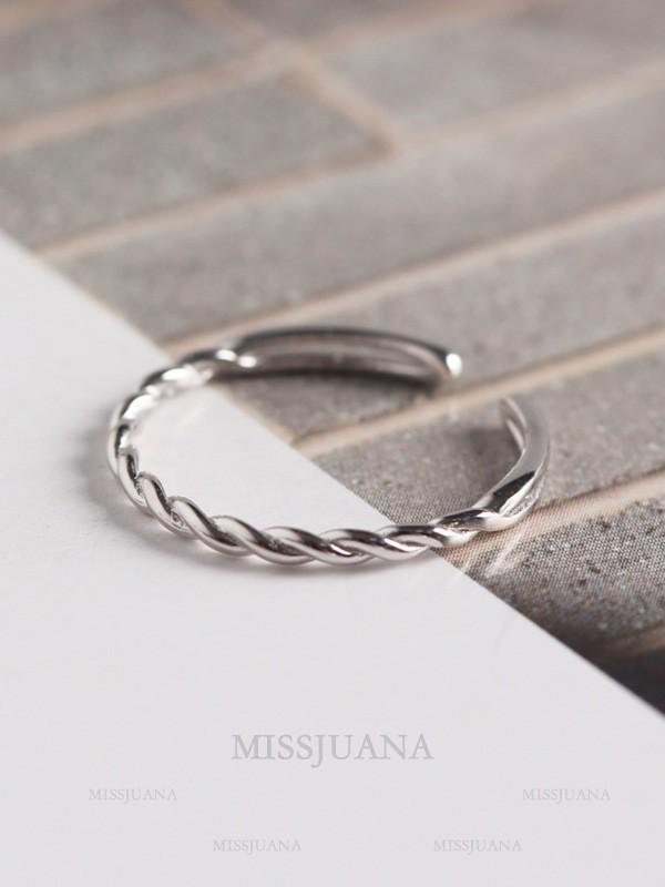 Korean Simple 925 Sterling Silver Hot Sale Adjustable Rings