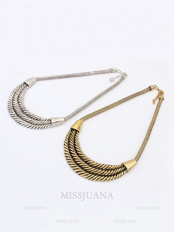 Occident Hyperbolic Personality Semi-arc alloy Hot Sale Necklace