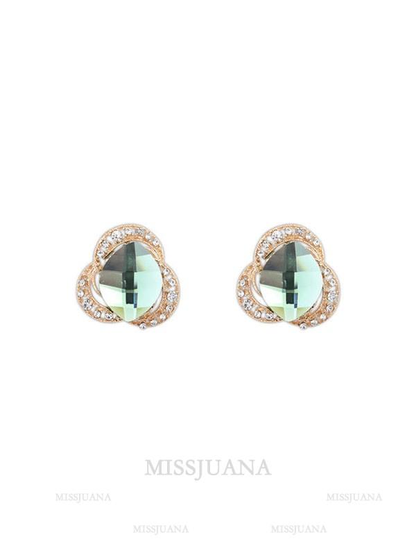 Occident Three Flowers Bohemia Customs Stud Hot Sale Earrings