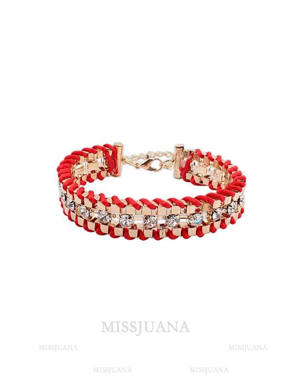 Occident Ethnic Customs Woven Rhinestone Hot Sale Bracelets