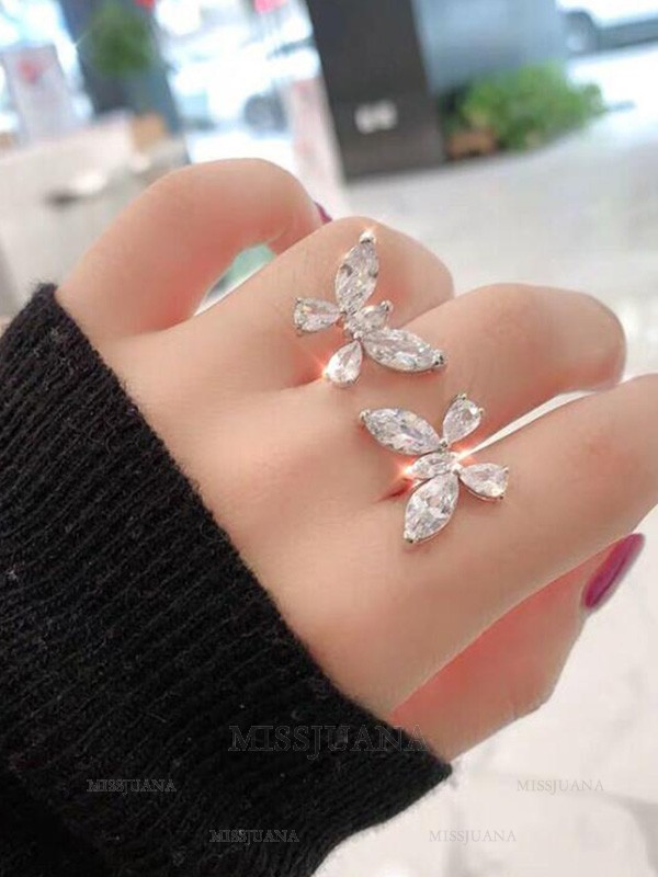 Gorgeous Alloy With Butterfly Adjustable Rings