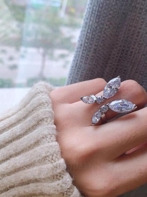 Pretty Alloy With Rhinestone Hot Sale Adjustable Rings