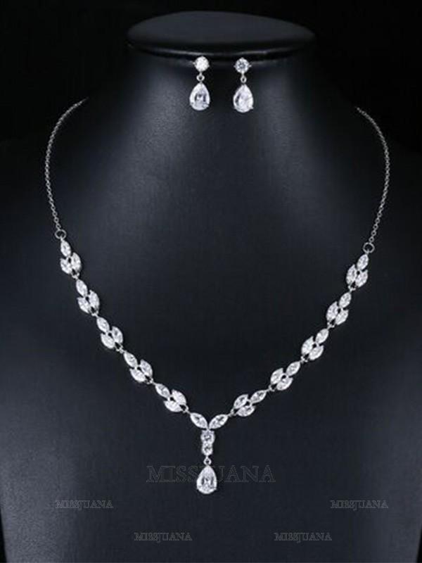 Occident Fashion Zircon Wedding Bridal Jewelry Set