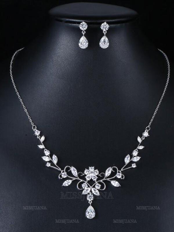 Fashion Occident Zircon Wedding Bridal Jewelry Set