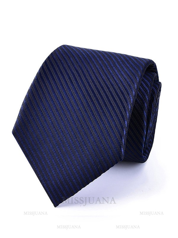 Formal Polyester Striped Tie