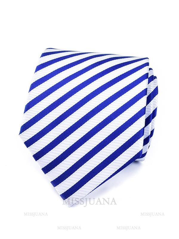 Modern Polyester Striped Tie