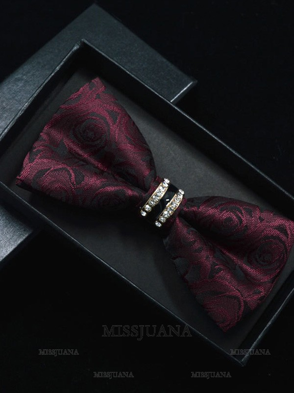 Vintage Floral Polyester Bow Tie