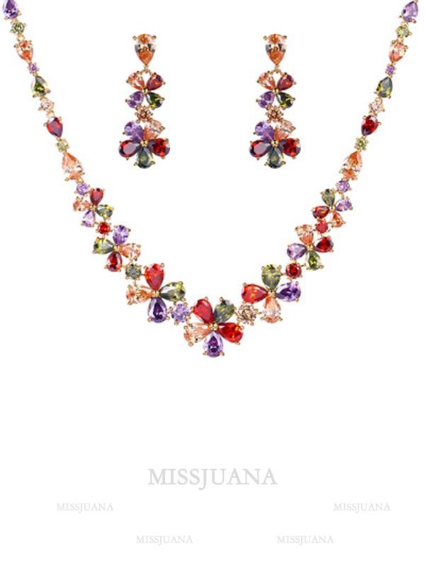 Occident Fashion Zircon Women's Jewelry Set