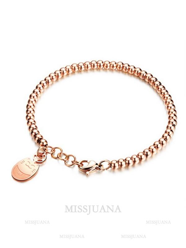 Ladies' Creative Titanium Cat Bracelets