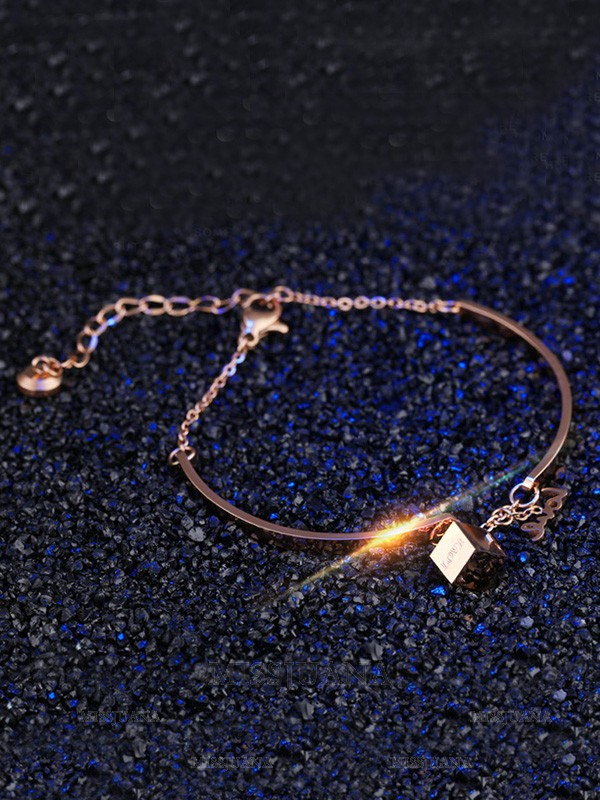 Ladies' Perfect Titanium Cube Bracelets
