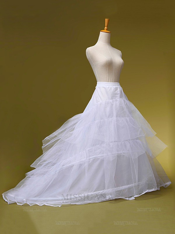 Tulle A-Line 2 Tier Sweep/Brush Train Wedding Petticoats