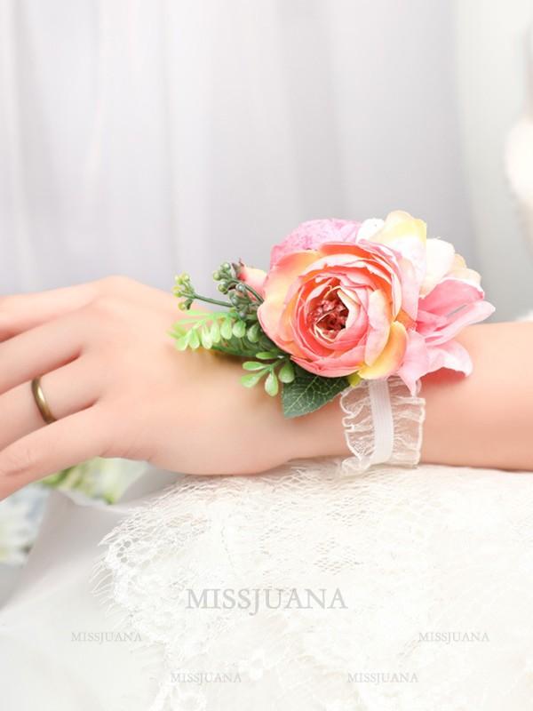 Attractive Silk Flower Wrist Corsage