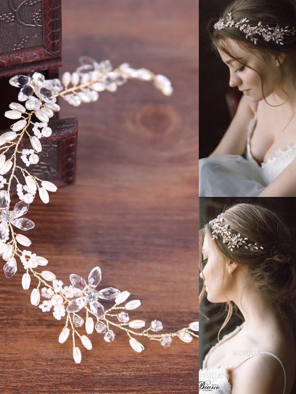 Simple Pearls Headpieces