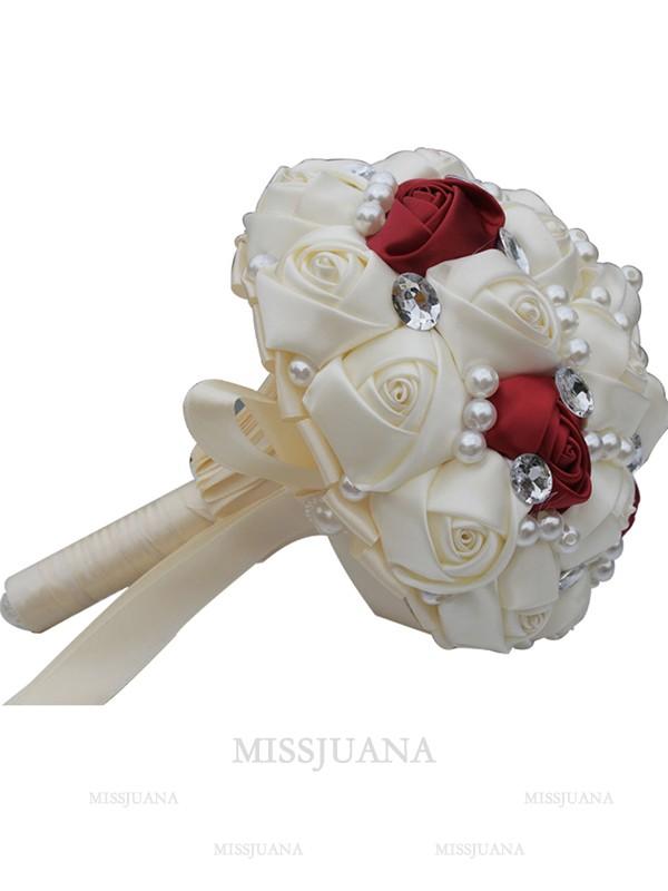 Gorgeous Round Satin Bridal Bouquets