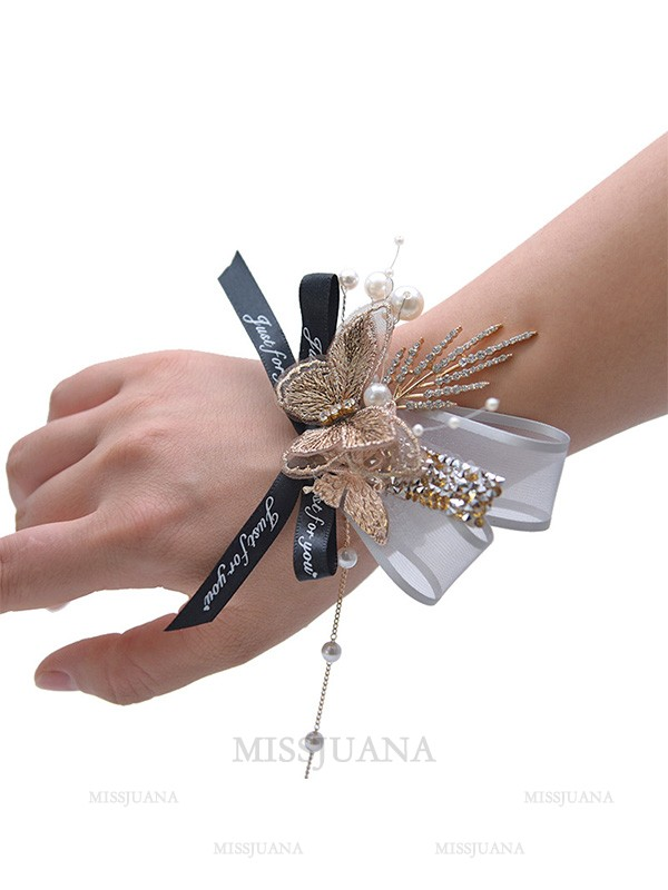 Charming Crystal Wrist Corsage