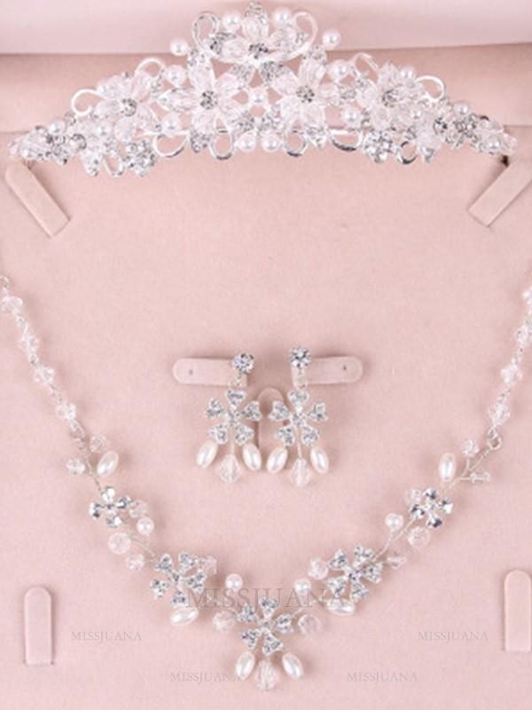 Korean Pretty Alloy Wedding Bridal Jewelry Set