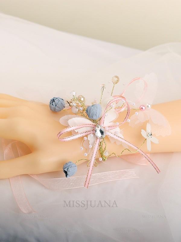 Elegant Glass Wrist Corsage