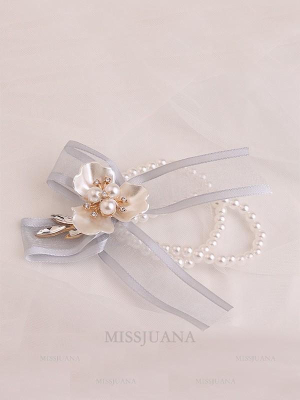 Sweet Imitation Pearl Wrist Corsage