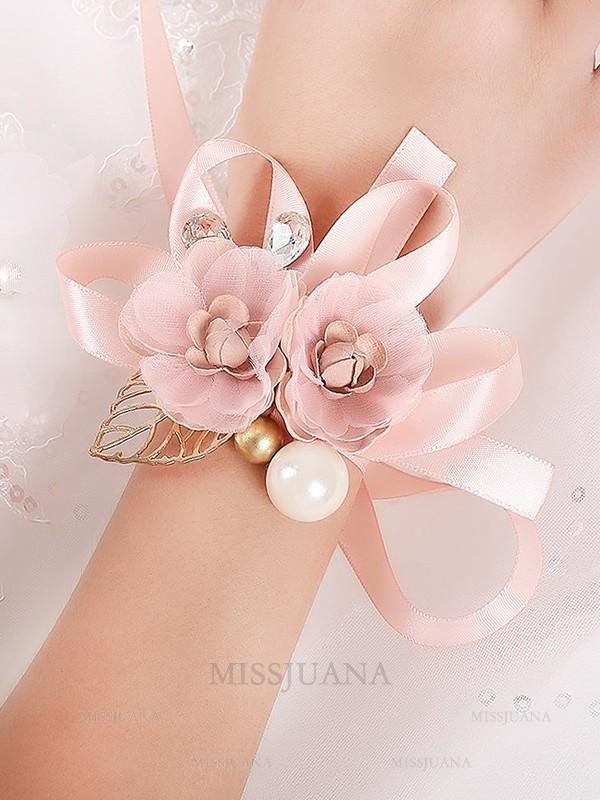 Girly Silk Flower Wrist Corsage