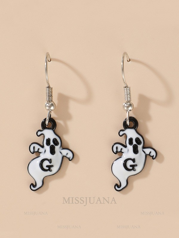 Halloween Lovely Alloy With Ghost Earrings