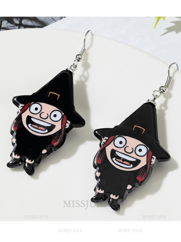 Halloween Unique Alloy With Ghost Earrings