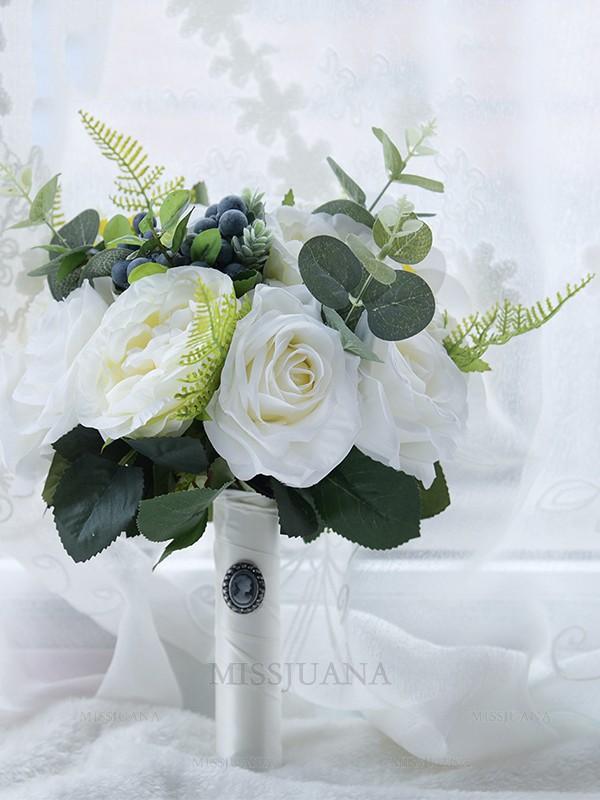 Fancy Free-Form Artificial Flower Bridal Bouquets